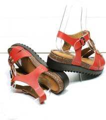 Кожаные женские сандали на толстой подошве Rifellini Rovigo 375-1161 Rad.