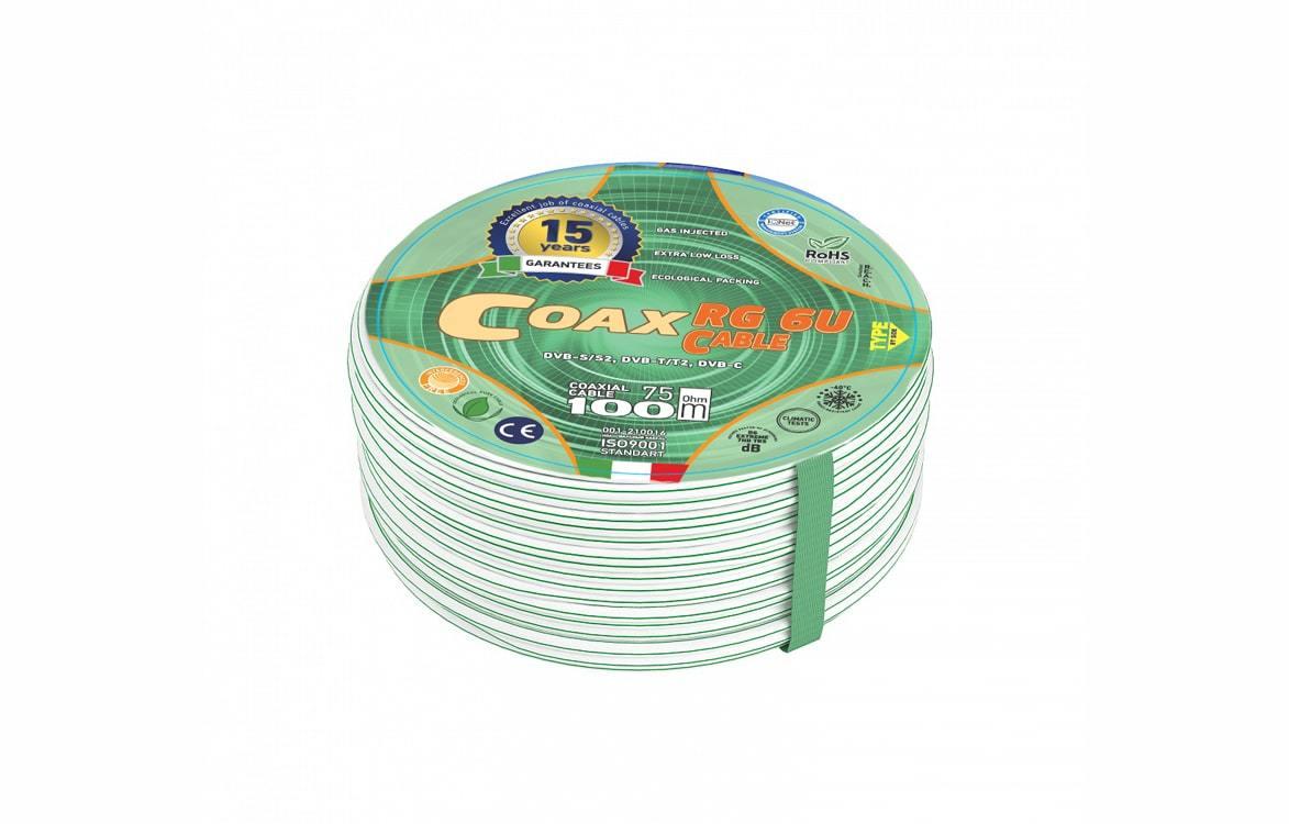 Коаксиальный кабель RG 6/48 AVS Electronics 48 нитей в экране (100 m)