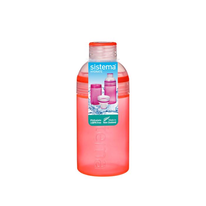 """Бутылка для воды Sistema """"Hydrate"""" 580  мл, цвет Красный"""