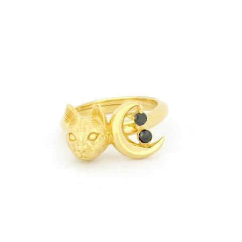 Кольцо Котик и Луна