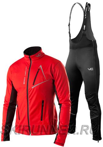Утеплённый лыжный костюм 905 Victory Dynamic 2019 Red с высокой спинкой мужской