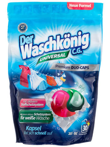 Капсулы для стирки Waschkonig Universal 30 шт