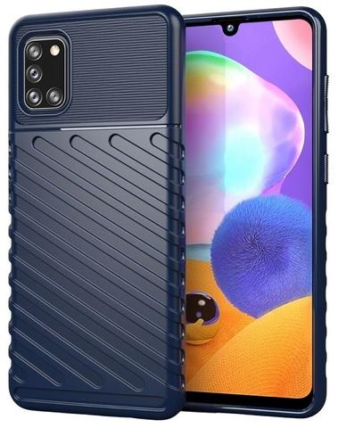 Темно-синий чехол на Samsung Galaxy A31, ударопрочный, серия Onyx от Caseport
