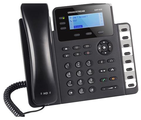 Grandstream GXP1630 - IP телефон. 3 SIP аккаунта, 3 линии, есть подсветка экрана, PoE, (1GbE)Gigabit Ethernet, 8 BLF