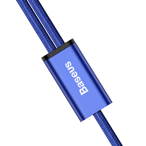 Кабель Baseus Rapid Series 2-in-1 Cable Micro+Lightning 3A 1.2M Dark Blue