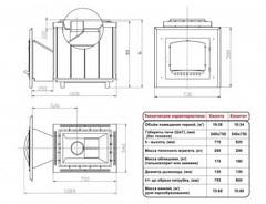 Печь Калита (Чугунный портал с чугунной дверью, облицовка - змеевик)