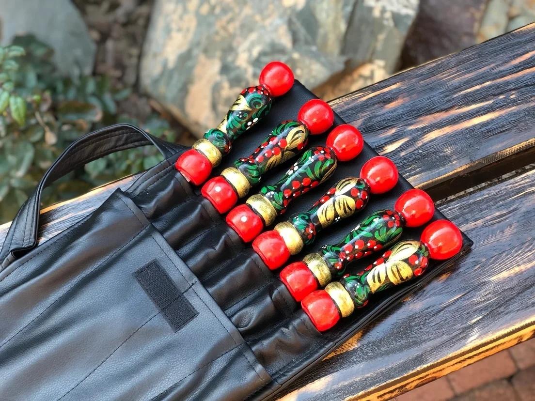 Наборы шампуров в чехле Набор шампуров Хохлома в чехле кожзам чёрный BhUXfoS2MT0.jpg