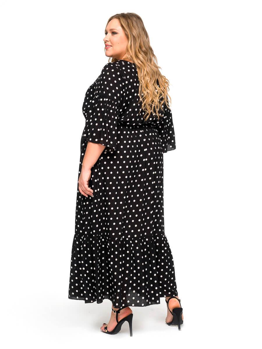 Платье с воланом Горошек