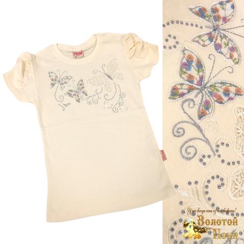 Блуза хлопок девочке (6-12) 210609-SH54084