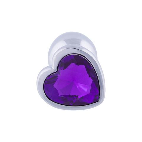 Анальная пробка сердце (фиолетовый)