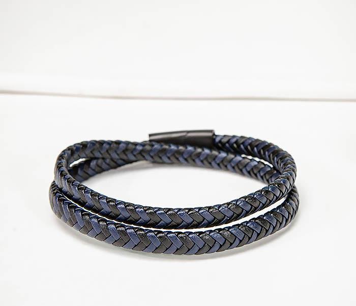 BM573 Двойной мужской браслет шнур из кожи фото 04