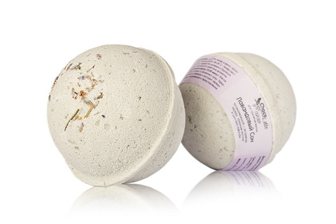Гейзер (бурлящий шарик) для ванн Лавандовый сон, 120g ТМ ChocoLatte