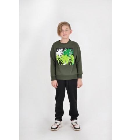 Свитшот зелёный  для мальчика