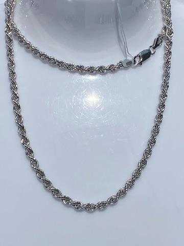 Веревка пустотелая 0,7 (серебряная цепочка)