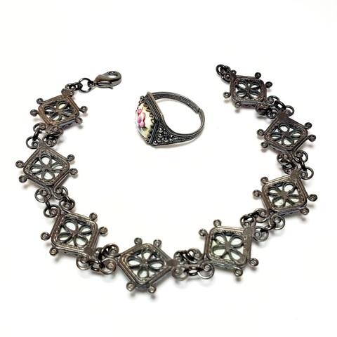 Гарнитур: браслет и кольцо