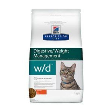 4328 ХИЛЛc ДИЕТА сух.д/кошек W/D лечение сахарного диабета, запоров, колитов 5кг