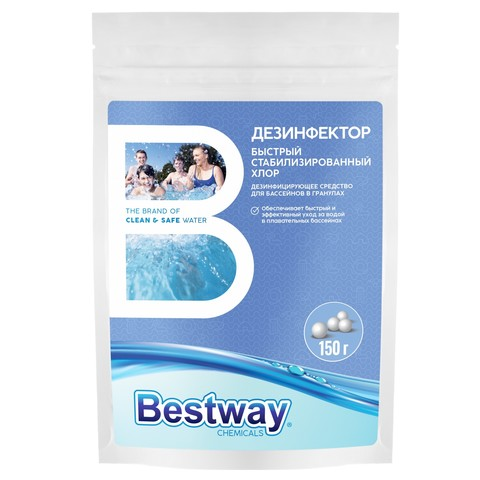 Средство для бассейнов Дезинфектор Bestway в гранулах 150г