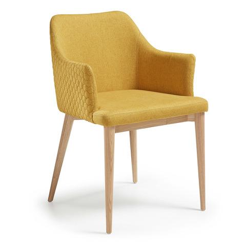 Кресло Danai желтое тканевое