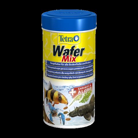 Tetra WaferMix Сухой корм для травоядных, хищных и донных рыб с добавлением креветок пластинки
