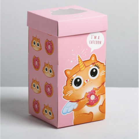 Коробка «Сладкий котик», 9*17*9см