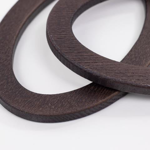 Деревянные ручки (массив ясеня) для сумки N22 темно-коричневые