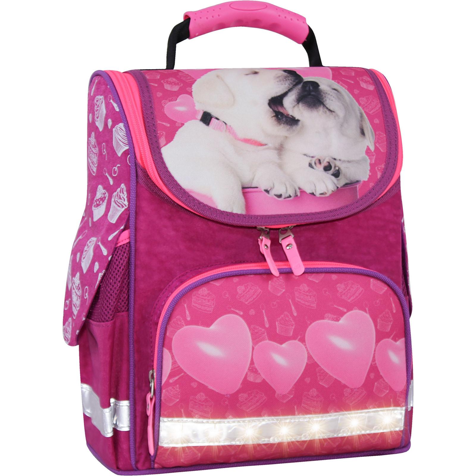 Школьные рюкзаки Рюкзак школьный каркасный с фонариками Bagland Успех 12 л. малиновый 593 (00551703) IMG_3821свет.суб593-1600.jpg