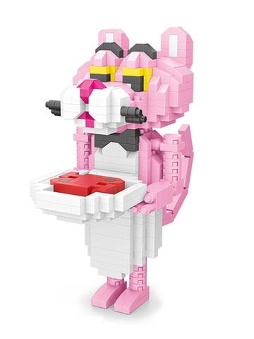 Конструктор Wisehawk Розовая пантера официант 505 деталей NO. 2547 Pink Panther Gift Series