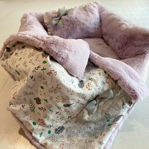 1961/5 - Комплект лежанка с одеялом для собаки