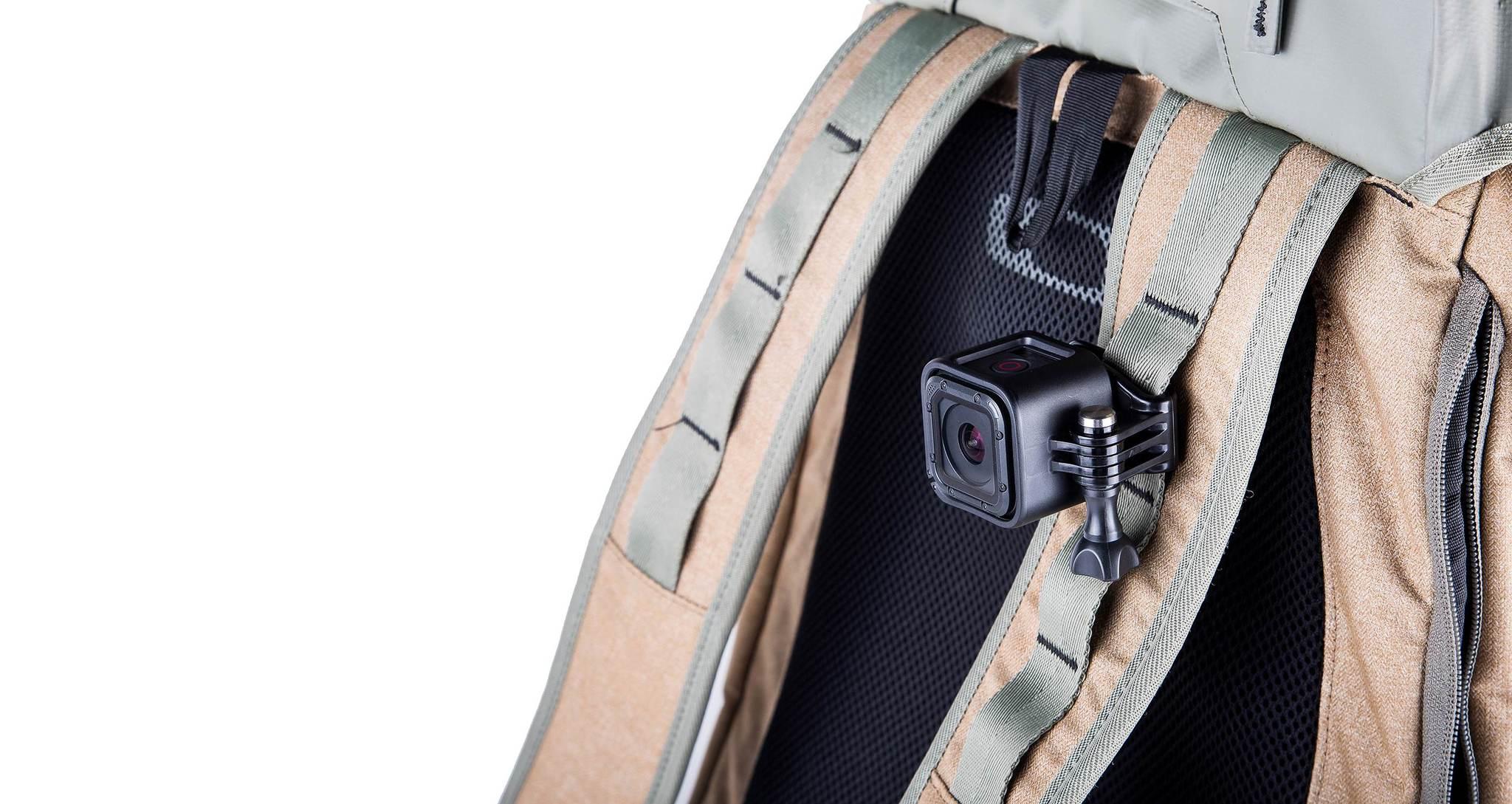 Крепление на голову + клипса на одежду GoPro Headstrap + QuickClip (ACHOM-001) на рюкзаке