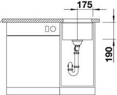 Мойка Blanco Subline 320-U схема