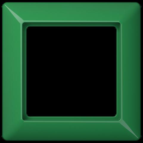 Рамка на 1 пост. Цвет Блестящий зелёный. JUNG AS. AS581BFGN