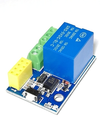 Релейный модуль 5V/10A для ESP8266 ESP-01/01S V4.0 (1 канал)