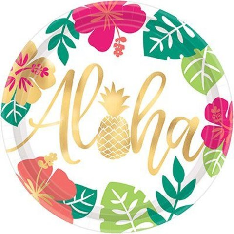 Тарелка ALOHA Фламинго 27см 8шт/А