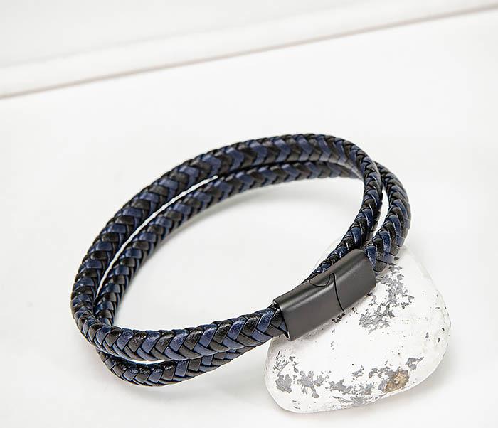 BM573 Двойной мужской браслет шнур из кожи фото 06