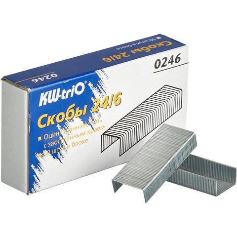 Скобы для степлера №24/6 KW-Trio оцинкованные (1000 штук в упаковке)