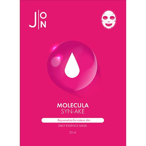 J:on Маска для лица тканевая с змеиным пептидом - Molecula syn-ake daily essence mask, 23мл