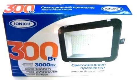 Прожектор светодиодный ТМ IONICH IFLSLED-DOB-300-865-BL-IP65 (CT2003)