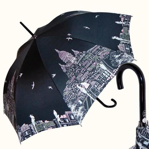 Черный женский зонт Монмартр, париж