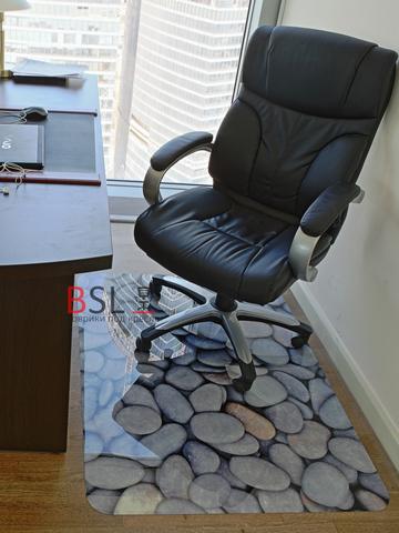 Коврик под кресло 900x1200 мм «галька» СЕРЫЙ