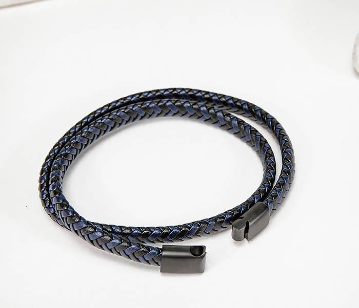 BM573 Двойной мужской браслет шнур из кожи фото 07