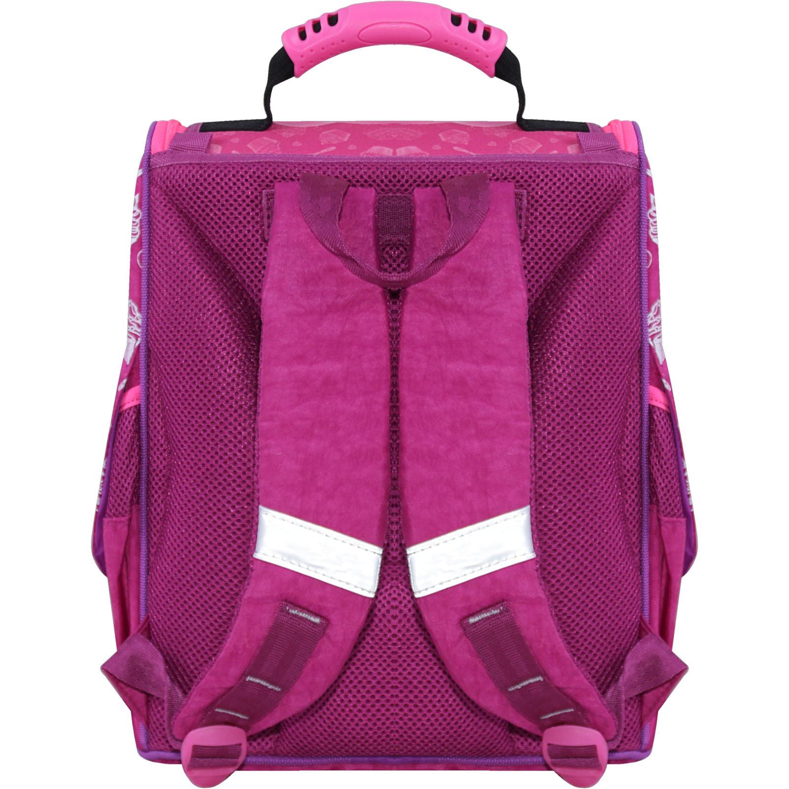 Рюкзак школьный каркасный с фонариками Bagland Успех 12 л. малиновый 593 (00551703)