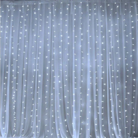 Гирлянда штора пышная размер 2*4м плотность 800LED