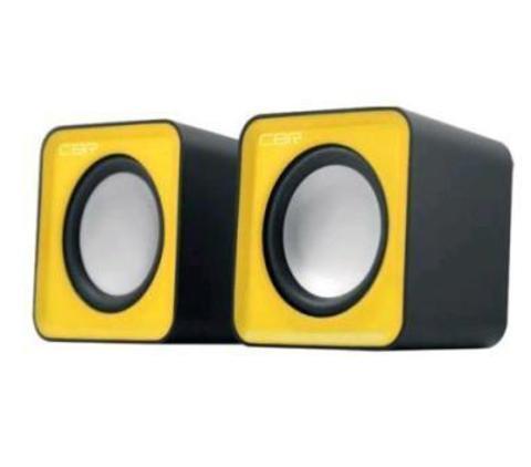 Акустическая система 2.0, CBR CMS 90 Yellow,  USB, 2х3 Вт (6 Вт RMS)