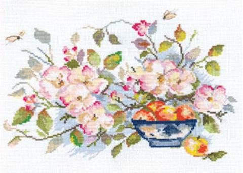 Яблоневый цвет¶Размер: 29х21 см ¶Кол-во цветов: 28