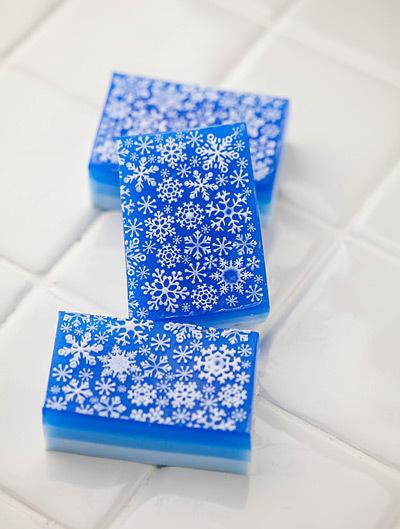 Мыло Снежинки. Форма + текстурный лист
