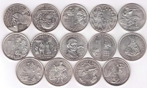 """Набор из 14 монет """"200 эскудо """" 1991-1999 года"""