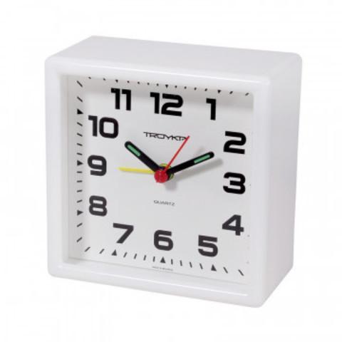 Часы Будильник, пластиковый 95x95мм,  с сигналом 08.10.801