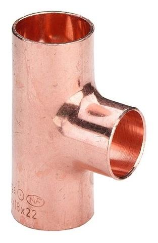 Viega тройник медный 18x18x18 мм равнопроходной под пайку (100612)