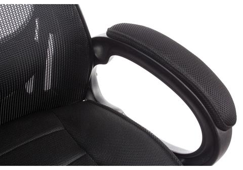 Офисное кресло для персонала и руководителя Компьютерное Burgos черное 69*69*122 Черный пластик /Черный