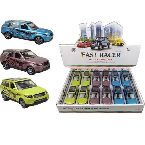 Набор машинок (в ассортименте) FAST RACER DIE CAST METAL Внедорожники № 2, 1кор*24бл*12шт
